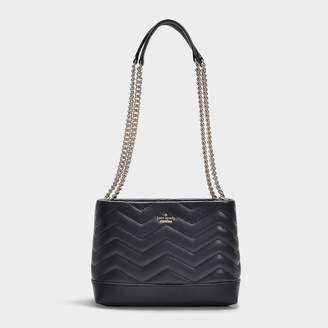 Kate Spade Reese Park Small Lorie Shoulder Bag In Black Quilted Leather