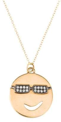 Alison Lou 18K Diamond Large Joe Cool Pendant Necklace