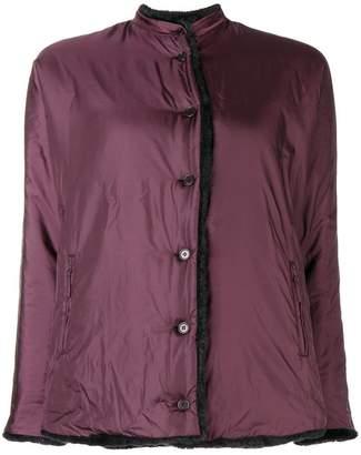 Aspesi reversible shell and faux fur jacket