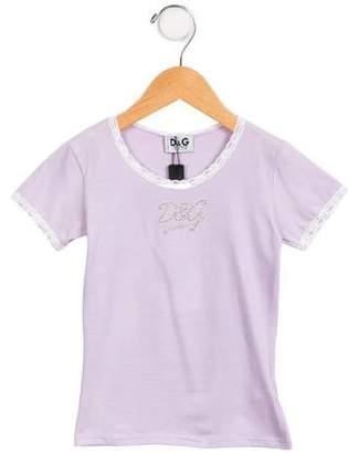 Dolce & Gabbana Girls' Embellished T-Shirt w/ Tags