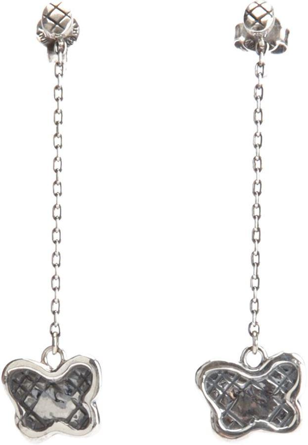 Bottega Veneta butterfly pendant earrings