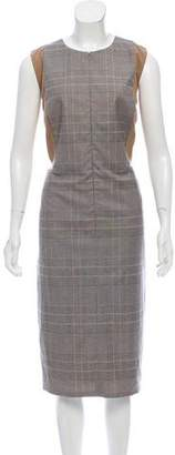 Akris Punto Plaid Midi Dress