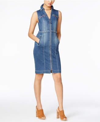 INC International Concepts Braided-Trim Denim Shirtdress, Only at Macy's $99.50 thestylecure.com