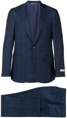 Canali checked two-piece suit