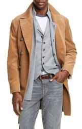 Brunello Cucinelli Corduroy Cotton & Cashmere Top Coat