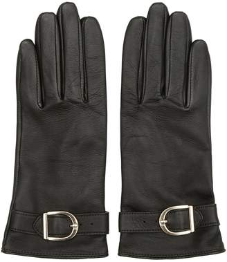 Reiss ALBANY BUCKLE-DETAIL GLOVES Racing Green