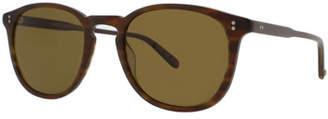 Garrett Leight Kinney 49 Square Polarized Sunglasses, Matte Brandy Tortoise