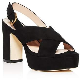 Stuart Weitzman Women's Jerry Block High-Heel Platform Sandals