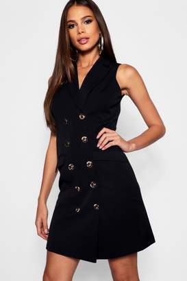 boohoo Tall Sleeveless Blazer Dress