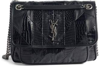 Saint Laurent Niki Medium Patchwork Shoulder Bag