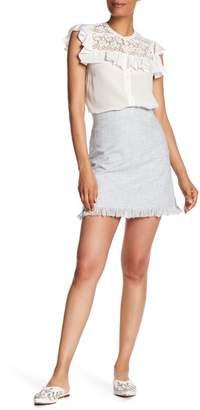 Rebecca Taylor Fringe Slub Skirt
