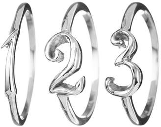 Lulu Frost CODE Number Ring Sterling Sterling Silver