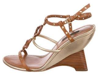 Louis Vuitton Leather Ankle-Strap Sandals