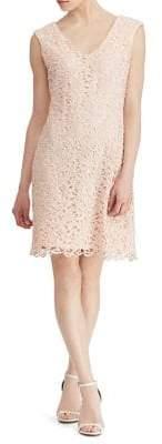Lauren Ralph Lauren Scalloped Lace Cap-Sleeve Dress