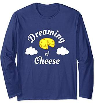 Dreaming of Cheese | Funny Pajama Long Sleeve T-Shirt