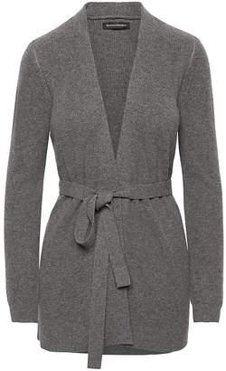 Banana Republic Wool-Cashmere Blend Ribbed Cardigan Sweater