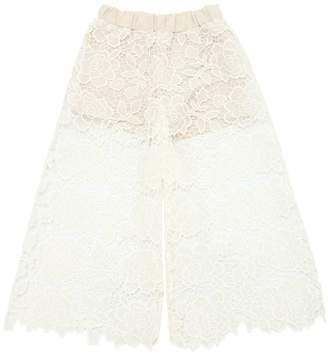 Wide Leg Macramé Lace Pants