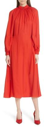 Tibi Georgette Side Toggle Tie Dress
