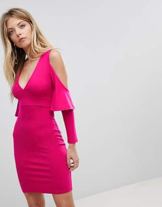French Connection Bodycon Cold Shoulder Dress