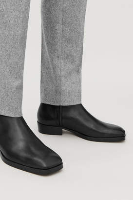 Cos LEATHER ANKLE BOOTS WITH ZIP