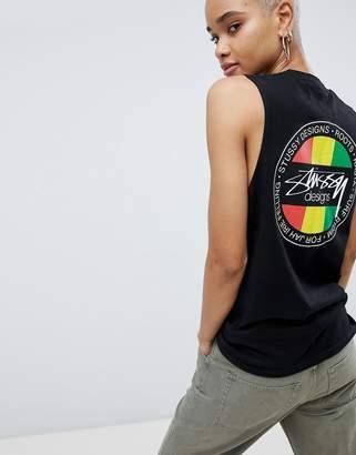 Stussy Tank With Reggae Logo Print