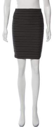 Boy By Band Of Outsiders Striped Knee-Length Pencil Skirt Black Striped Knee-Length Pencil Skirt