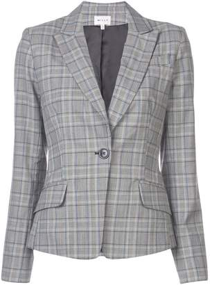 Milly checked single-breasted blazer