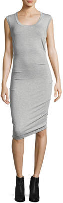 Nicole Miller Jersey Ruched Tank Sheath Dress