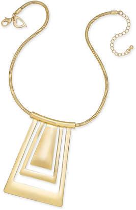 Thalia Sodi Gold-Tone Geometric Collar Pendant Necklace, Created for Macy's