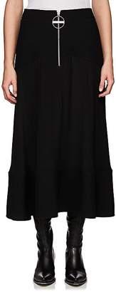 Givenchy Women's Basket-Weave & Crepe Silk Midi-Skirt