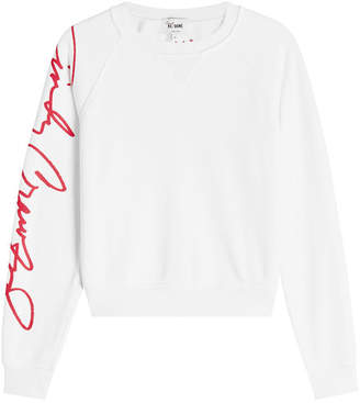 RE/DONE Cindy Crawford Cotton Sweat Top
