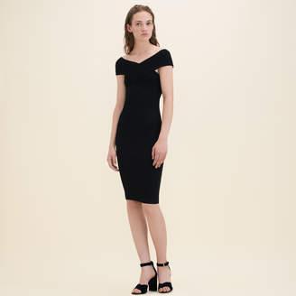 Maje Ribbed knit sleeveless dress