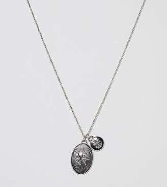 Reclaimed Vintage Inspired Lucky Charm Pendant Necklace In Silver Exclusive To ASOS