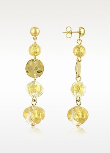 Antica Murrina Eldorado - Murano Glass Stone Drop Earrings