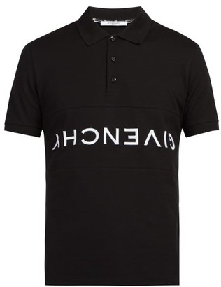 Givenchy Logo Embroidered Polo Shirt - Mens - Black