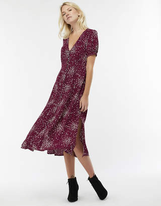Monsoon Suki Spot Print Midi Dress
