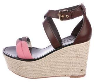 Burberry Check Espadrille Wedges