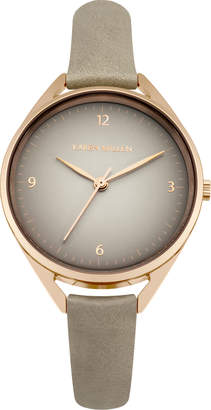 Karen Millen Classic Leather Watch