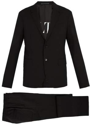 Valentino Single Breasted Wool Blend Suit - Mens - Black