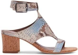 Donald J Pliner ELLEE, Summer Snake Print Leather Heeled Sandal