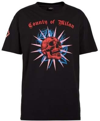 Marcelo Burlon County of Milan Skull Print Cotton T Shirt - Mens - Black