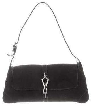 Gucci Suede Jackie Shoulder Bag silver Suede Jackie Shoulder Bag