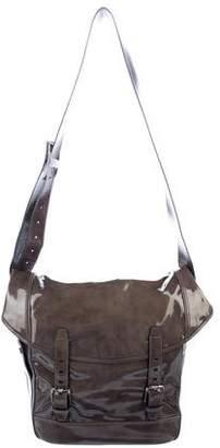 Salvatore Ferragamo Patent Leather Messenger Bag