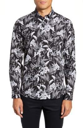 Ted Baker Slim Fit Floral Print Sport Shirt