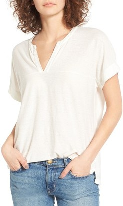 Women's James Perse Relaxed Split Neck Tee $145 thestylecure.com