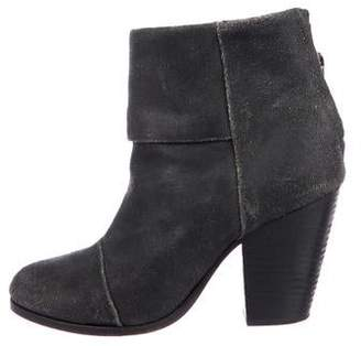 Rag & Bone Newbury Leather Round-Toe Ankle Boots
