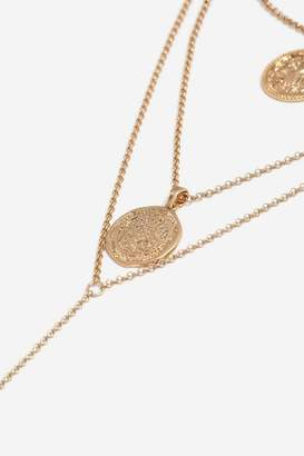 Coin multi-row necklace