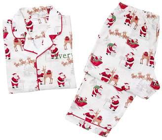 Pottery Barn Kids Adult Heritage Santa Flannel Pajama, XL