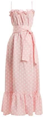 Lisa Marie Fernandez - Liz Linen Maxi Dress - Womens - Pink White
