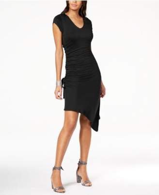 INC International Concepts I.N.C. Ruched Asymmetrical T-Shirt Dress, Created for Macy's